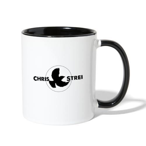 Chris Strei BlackBird Logo (black) - Contrast Coffee Mug