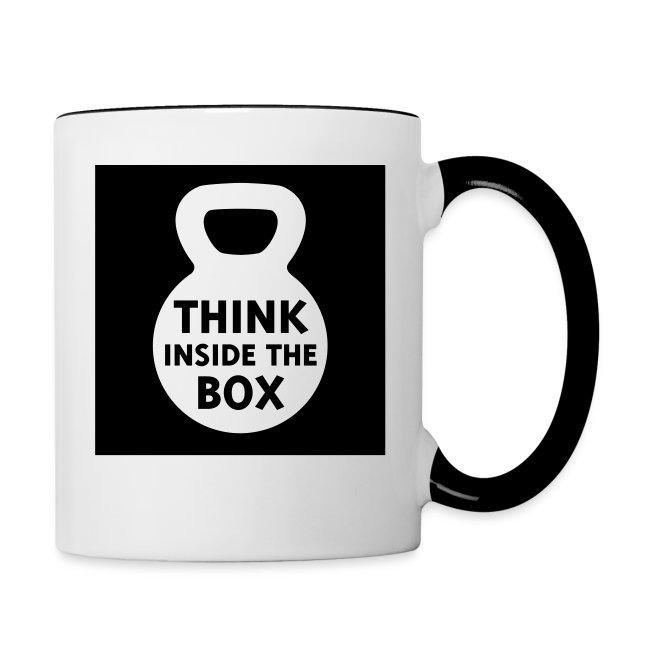 Fitness Box Kettlebell Swing Weights Contrast Coffee Mug