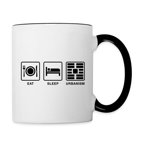 Eat Sleep Urb big fork - Contrast Coffee Mug