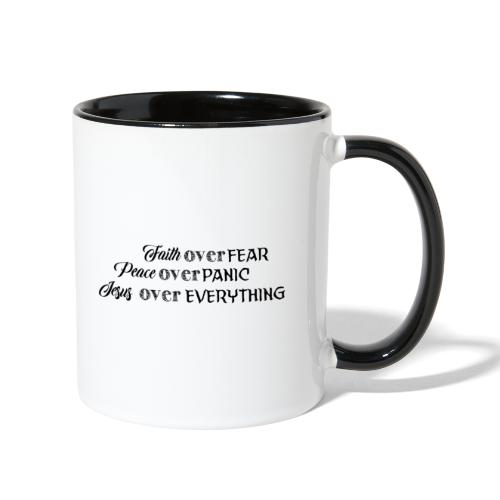 Faith over fear - Contrast Coffee Mug