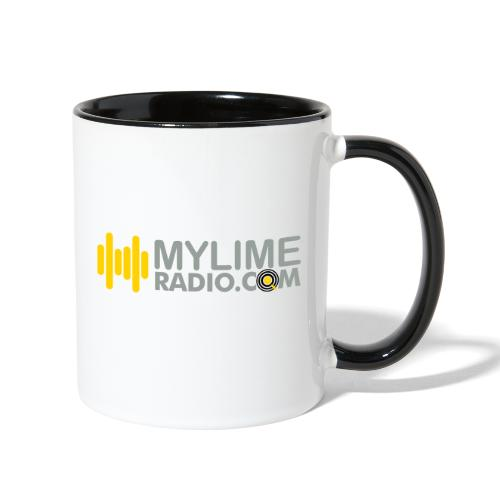 MyLimeRadio ALT LOGO (Tri Colour) - Contrast Coffee Mug