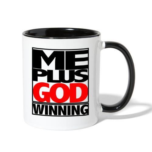 ME GOD WIN - Contrast Coffee Mug