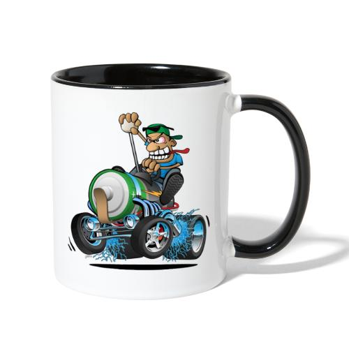 Hot Rod Electric Car Cartoon - Contrast Coffee Mug