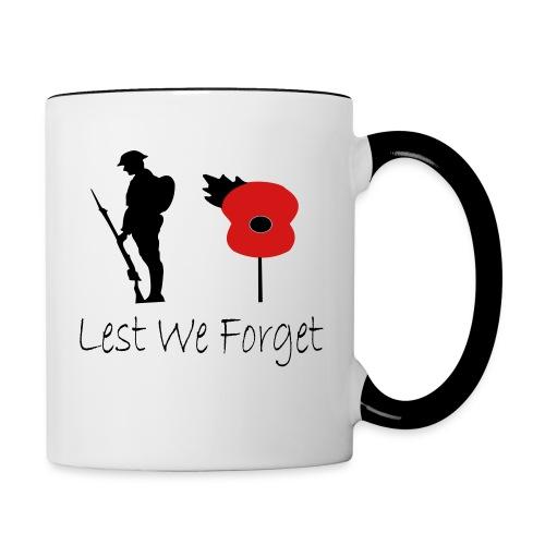 Lest We Forget - Contrast Coffee Mug