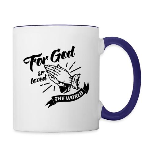 For God So Loved The World… - Alt. Design (Black) - Contrast Coffee Mug