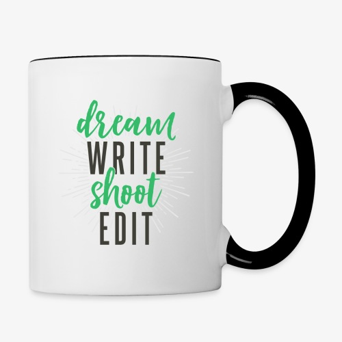 Dream. Write. Shoot. Edit - Contrast Coffee Mug