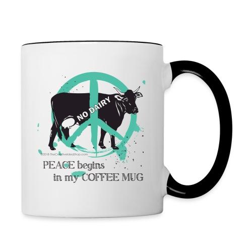 Peace Coffee Mug - Contrast Coffee Mug