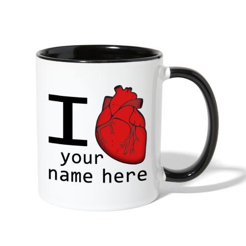 Human Heart - Contrast Coffee Mug