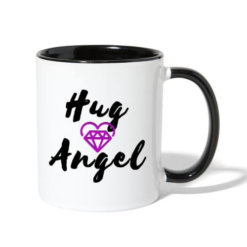 Hug Angel Diamond Heart - Contrast Coffee Mug