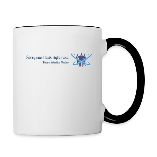 Can't talk logo - Contrast Coffee Mug