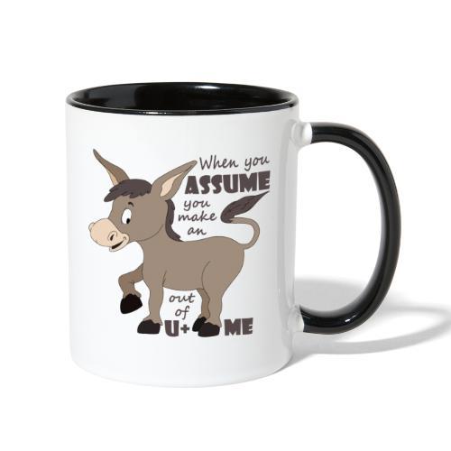 Assume Jackass - Contrast Coffee Mug