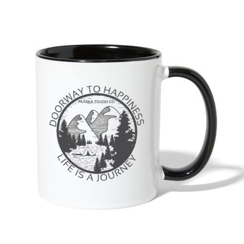 Life is a Journey Design - Contrast Coffee Mug