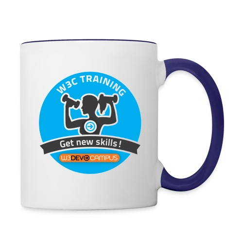 Sticker blue - Contrast Coffee Mug