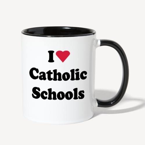 I LOVE CATHOLIC SCHOOLS - Contrast Coffee Mug