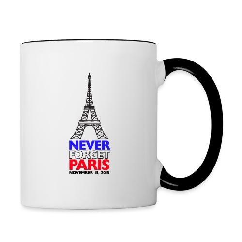 Never Forget Paris - Contrast Coffee Mug