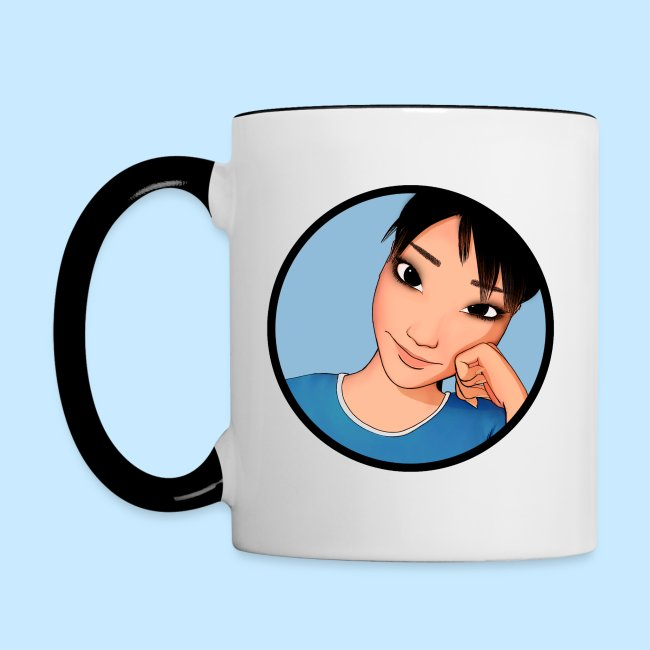 AmiCheek Circle 03 For Blue Trim Mug toon 200dpi