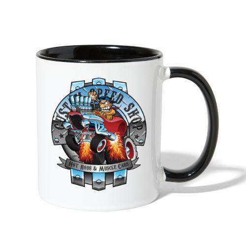 Custom Speed Shop Hot Rods and Muscle Cars Illustr - Contrast Coffee Mug