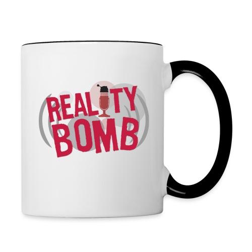 Reality Bomb logo png - Contrast Coffee Mug