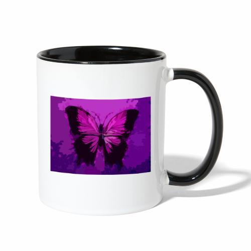 Fuchsia Pink Butterfly - Contrast Coffee Mug
