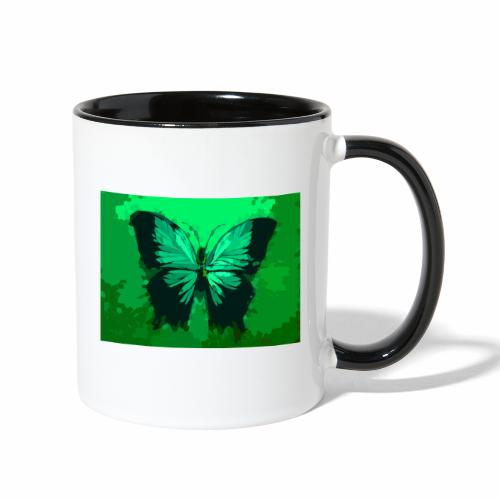 Light Green Butterfly - Contrast Coffee Mug