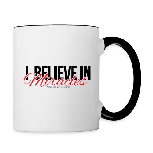 I Believe (Dark Print) - Contrast Coffee Mug