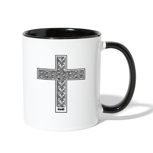 Jesus cross. I'm no longer a slave to fear. - Contrast Coffee Mug