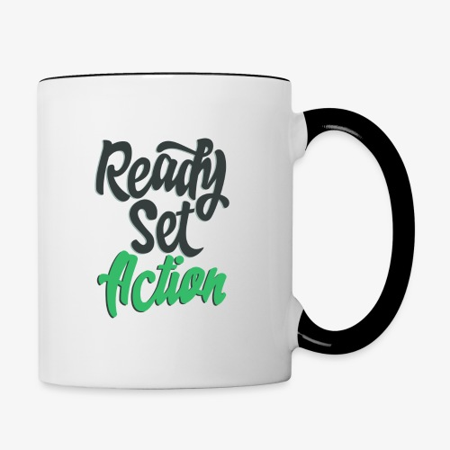 Ready.Set.Action! - Contrast Coffee Mug