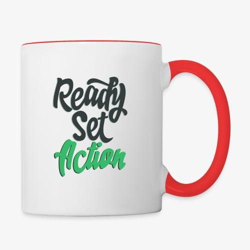 Ready.Set.Action! - Contrast Coffee Mug