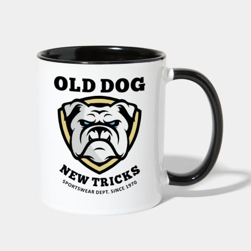 old dog new tricks - Contrast Coffee Mug