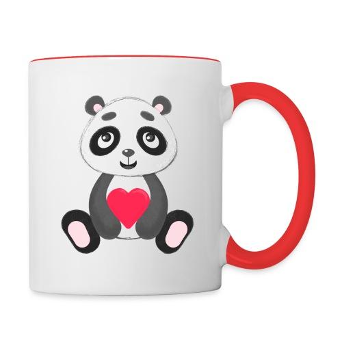Sweetheart Panda - Contrast Coffee Mug