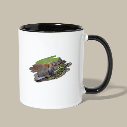French Lop Brush Stroke - Contrast Coffee Mug