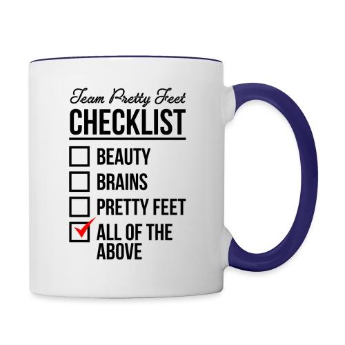 TEAM PRETTY FEET Checklist - Contrast Coffee Mug