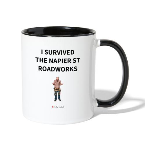 I Survived The Napier Street Roadworks - Contrast Coffee Mug
