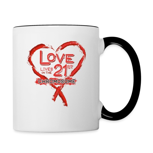 Down Syndrome Love (Red) - Contrast Coffee Mug
