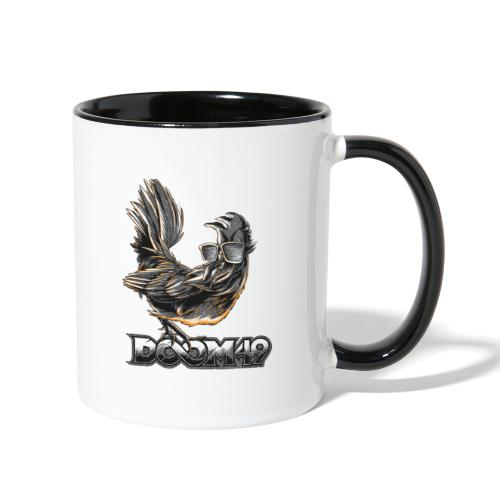 DooM49 Black and White Chicken - Contrast Coffee Mug