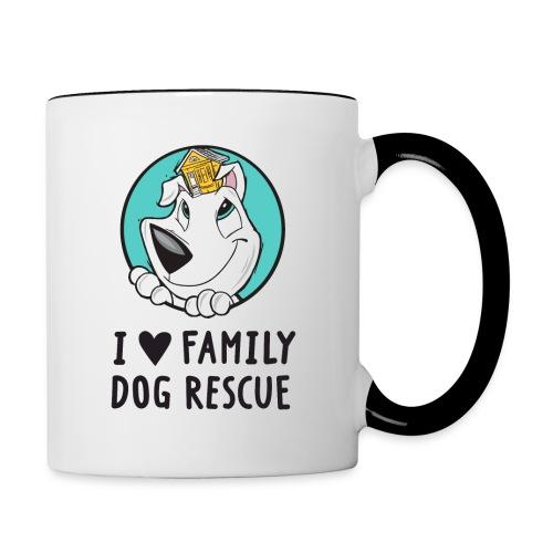 iheartfamilydogicon png - Contrast Coffee Mug