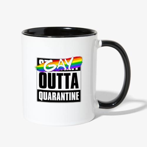 Gay Outta Quarantine - LGBTQ Pride - Contrast Coffee Mug