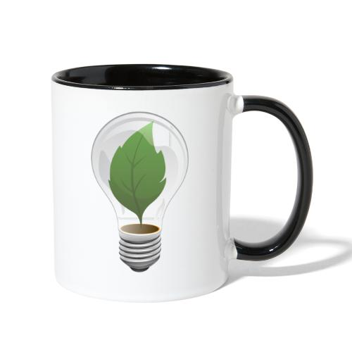 Clean Energy Green Leaf Illustration - Contrast Coffee Mug