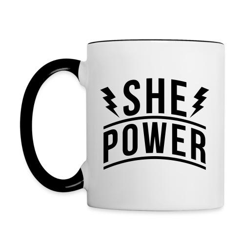 She Power - Contrast Coffee Mug