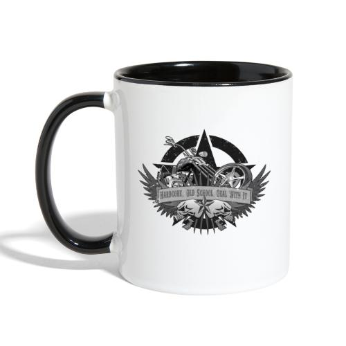 Hardcore. Old School. Deal With It. - Contrast Coffee Mug
