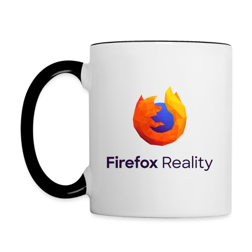 Firefox Reality - Transparent, Vertical, Dark Text - Contrast Coffee Mug