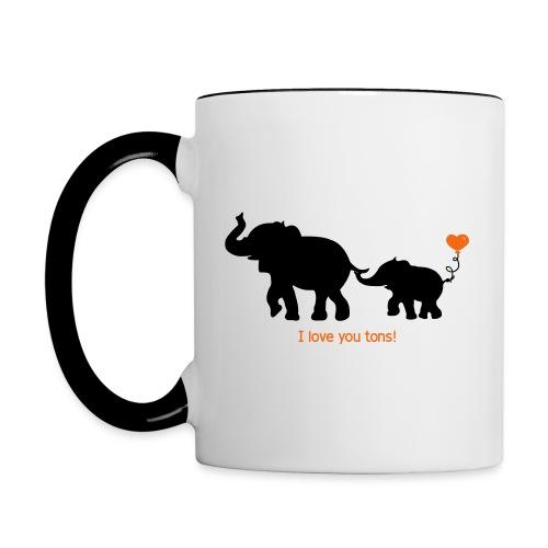 I Love You Tons! - Contrast Coffee Mug