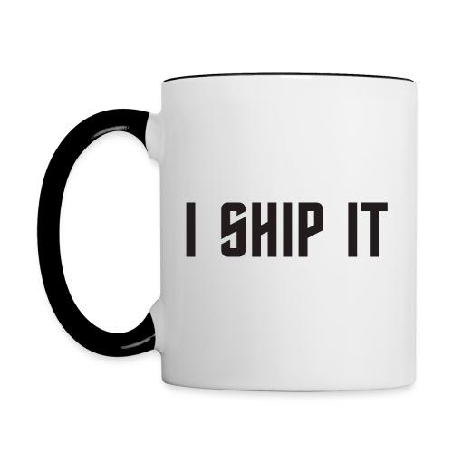 I Ship It Trek Shirt - Contrast Coffee Mug