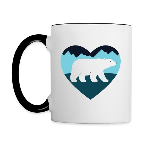 Polar Bear Love - Contrast Coffee Mug
