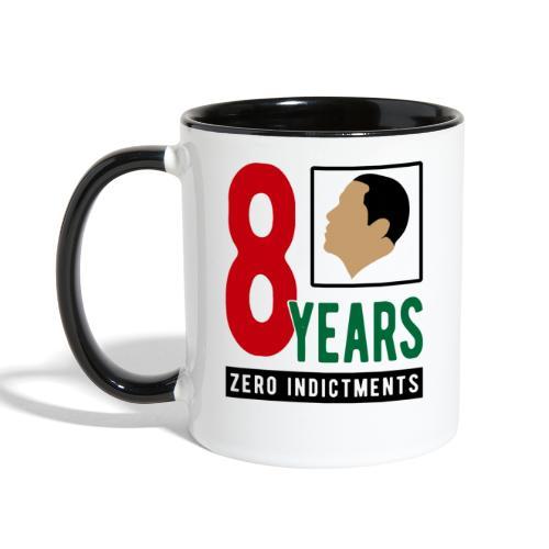 Obama Zero Indictments - Contrast Coffee Mug