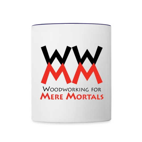 Woodworking for Mere Mortals logo - Contrast Coffee Mug