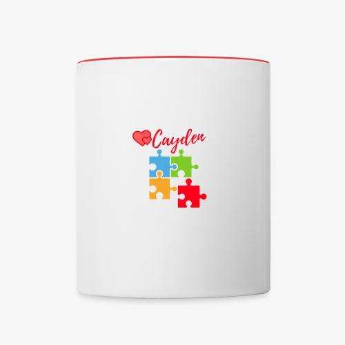 Cayden Autism Awareness Thank You - Contrast Coffee Mug