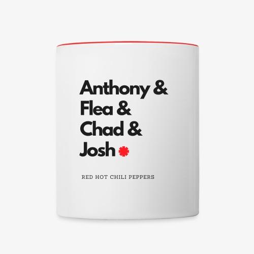 RHCP members - Contrast Coffee Mug