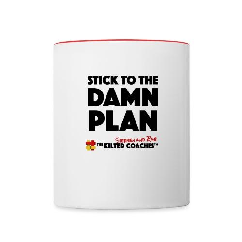 Stick to plan - Contrast Coffee Mug