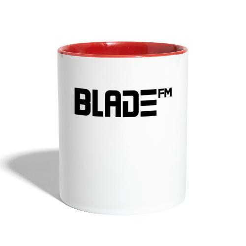 Black BladeFM Logo - Contrast Coffee Mug